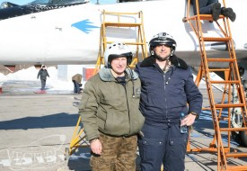 Jet fighter flight for our guest from UAE | Полеты на истребителе МиГ-29 в стратосферу