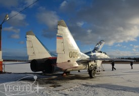 Winter MIG flights | Полеты на истребителе МиГ-29 в стратосферу