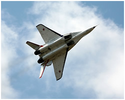 Higher aerobatics on MiG-29 jet fighter