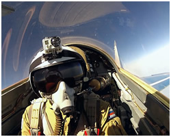 Edge of space flight on MiG-29