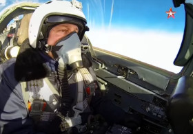 Take a ride in a fighter jet high in the sky