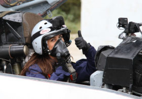 To be a passenger in a fighter jet